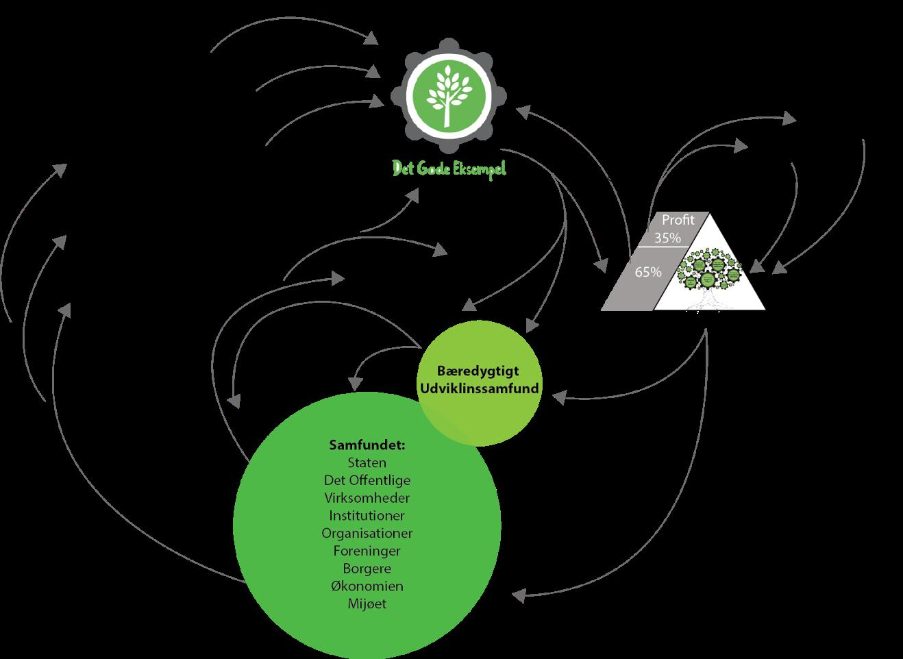 Skitse af den bæredygtige forretningsplan